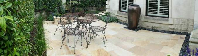 Dusty Mint Sandstone.  Installation by Steneker and Brown Landscape Construction.